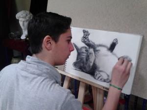 Dibujo artístico en Academia Romaral Art.