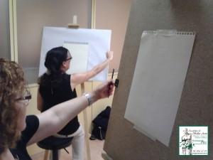 El pasado lunes 23 de junio los alumnos de dibujo realizaron su primera clase con modelo en la Academia Romaral Art.