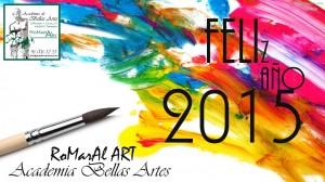 Academia Bellas Artes ROMARAL ART os desea FELIZ AÑO NUEVO!!